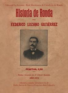 Portada: Historia de Ronda (Federico Lozano)
