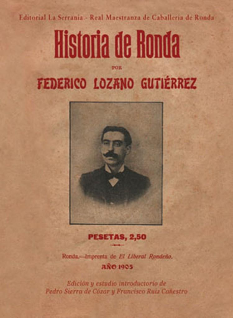 Portada de Historia de Ronda (Federico Lozano)