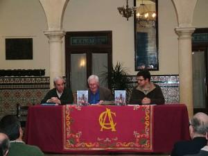 Alastair Boyd durante la presentación de su libro en el Círculo de Artistas de Ronda