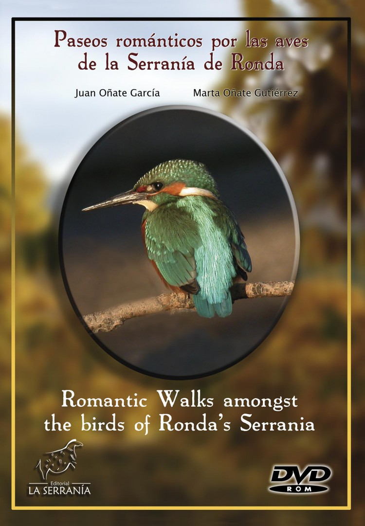 Portada de DVD-ROM 'Paseos románticos por las aves de la Serranía de Ronda' / 'Romantic Walks amongst the birds of Ronda´s Serrania'