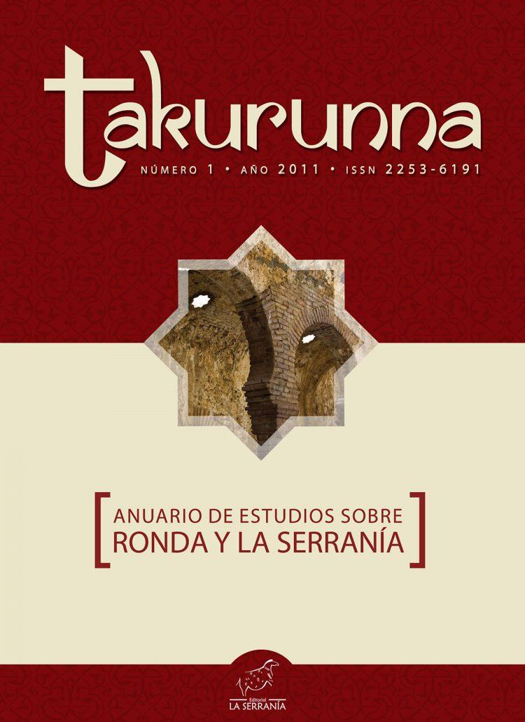 Portada de Takurunna nº 1. Anuario de Estudios sobre Ronda y la Serranía