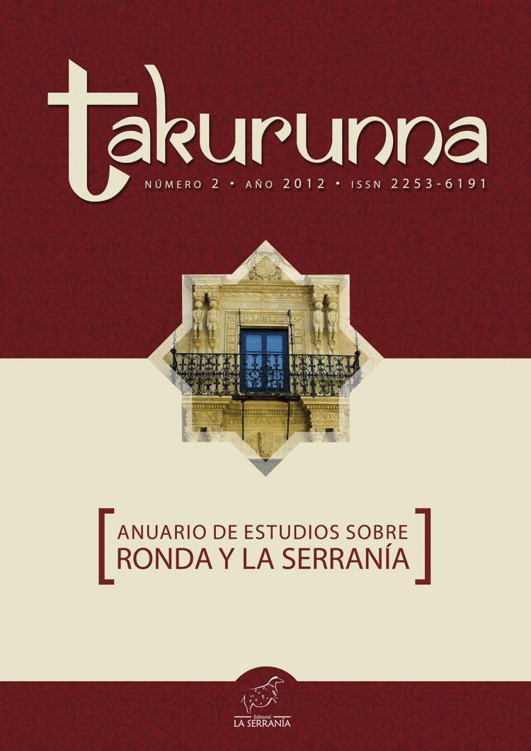 Portada de Takurunna nº 2. Anuario de Estudios sobre Ronda y la Serranía