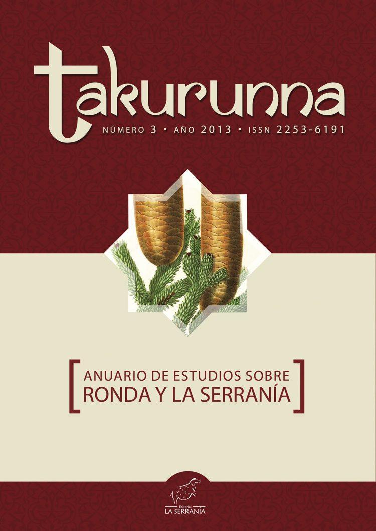 Portada de Takurunna nº 3. Anuario de Estudios sobre Ronda y la Serranía