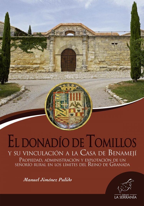 Portada de El Donadío de Tomillos y su vinculación a la Casa de Benamejí