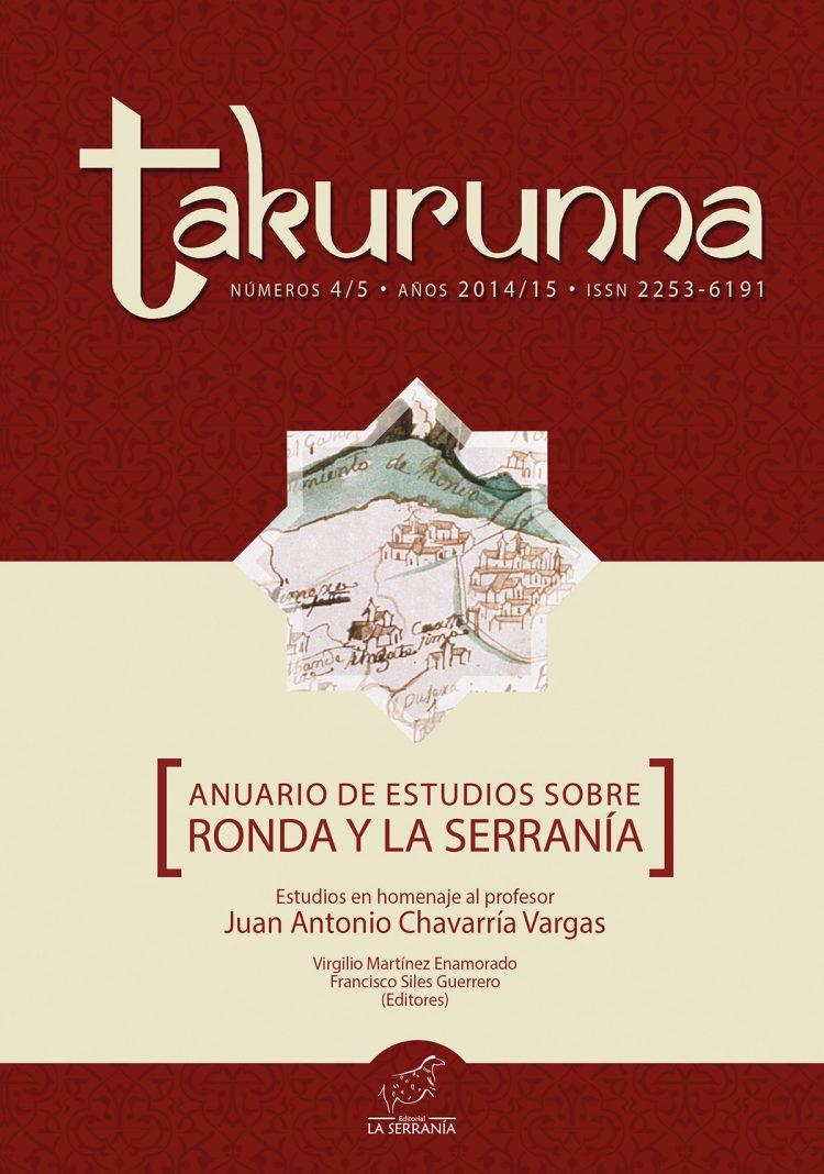 Portada de Takurunna nº 4-5. Anuario de Estudios sobre Ronda y la Serranía