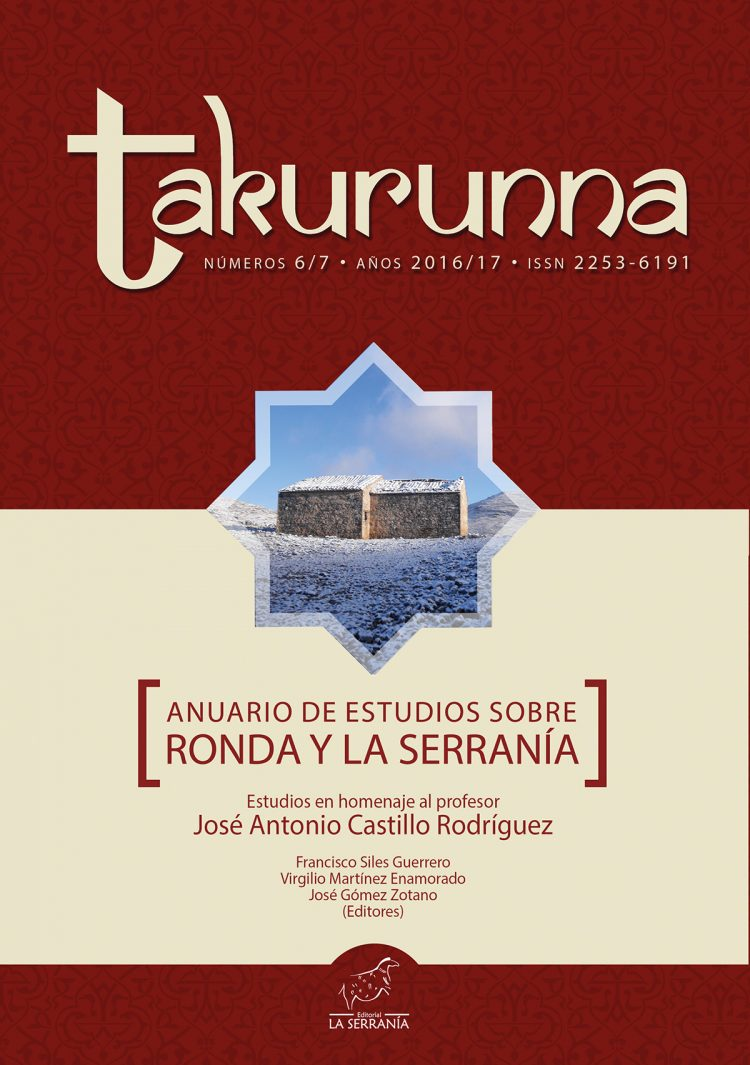 Portada de Takurunna nº 6-7. Anuario de Estudios sobre Ronda y la Serranía