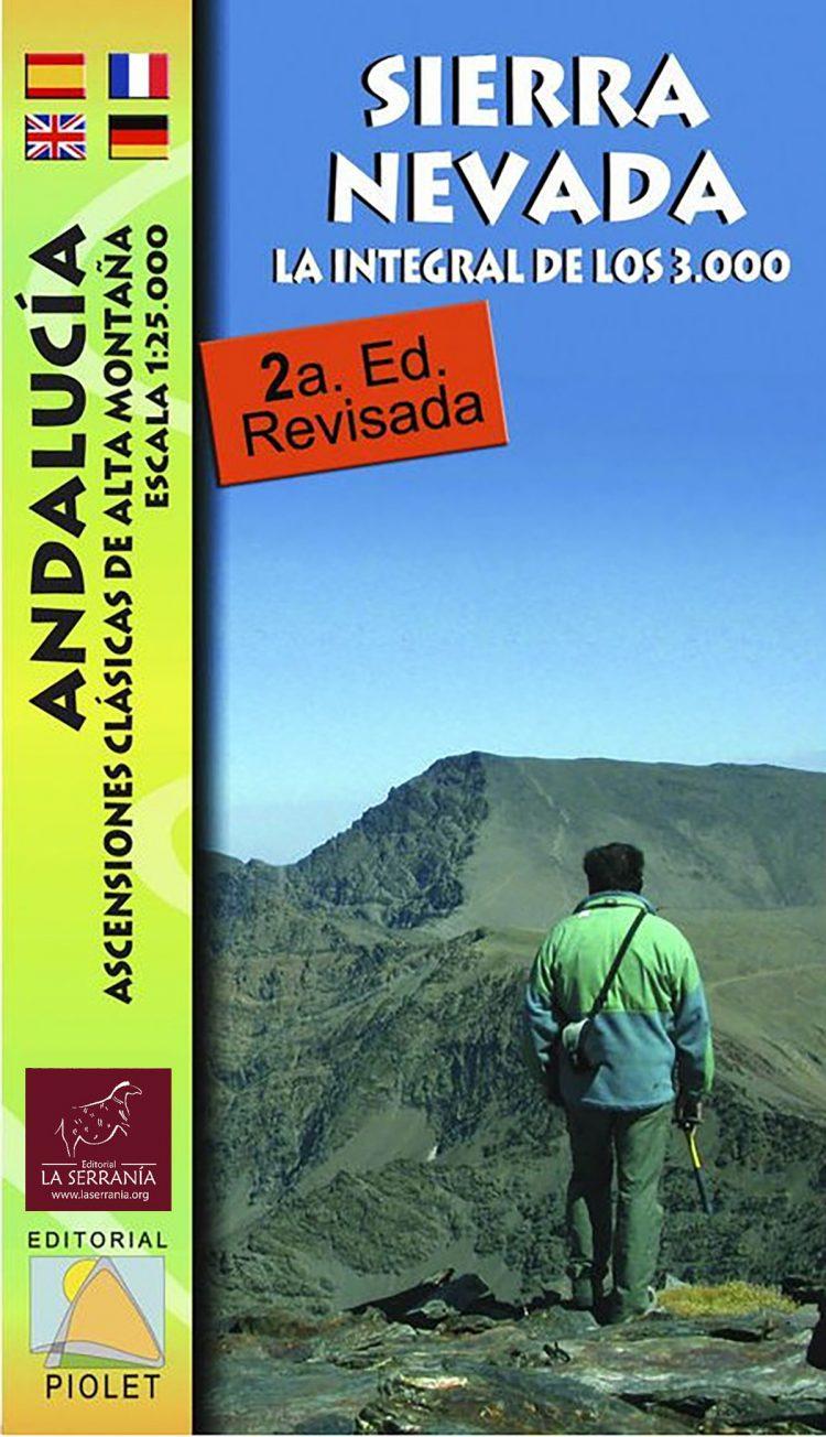 Portada de Mapa Sierra Nevada. La integral de los 3000. Andalucía. Ascensiones clásicas de alta montaña 1:25.000 2ª ed.